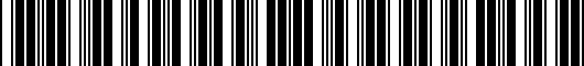 Barcode for PT9290318102