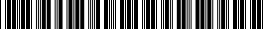 Barcode for PT9364210014